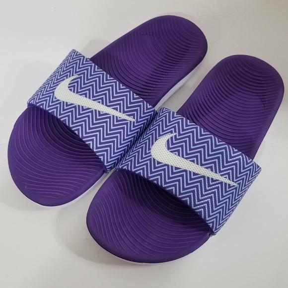 Nike Sz 7 Purple Slide Flip Flops